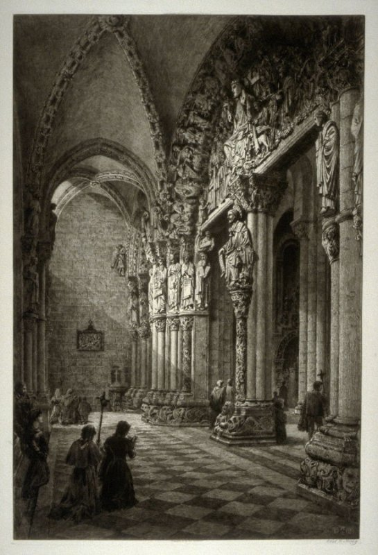 The Portico de la Gloria of the Cathedral of Santiago de Compostella