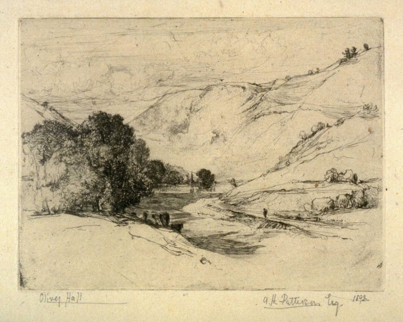 Untitled (Landscape with Stream)