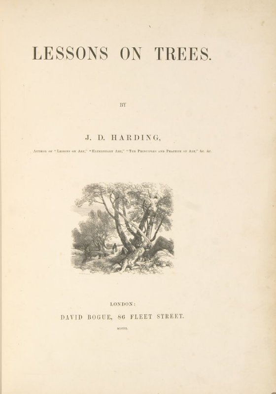 Frontispiece, Illustration 1 in the book Lessons on Trees (London: David Bogue, 1850)