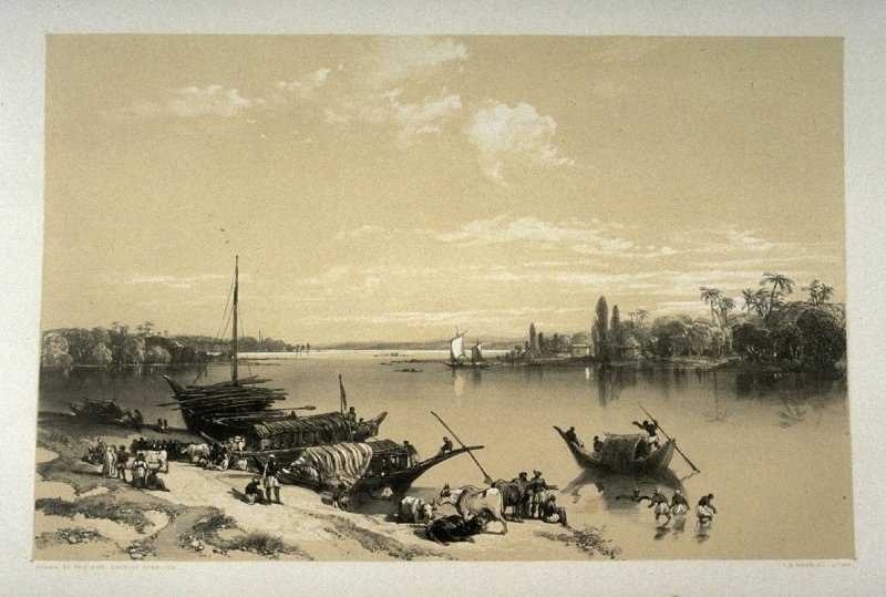 Barackpore, second plate in the book, Recollections of India … Part I. British India and the Punjab (London: Thomas M'Lean, 1847)