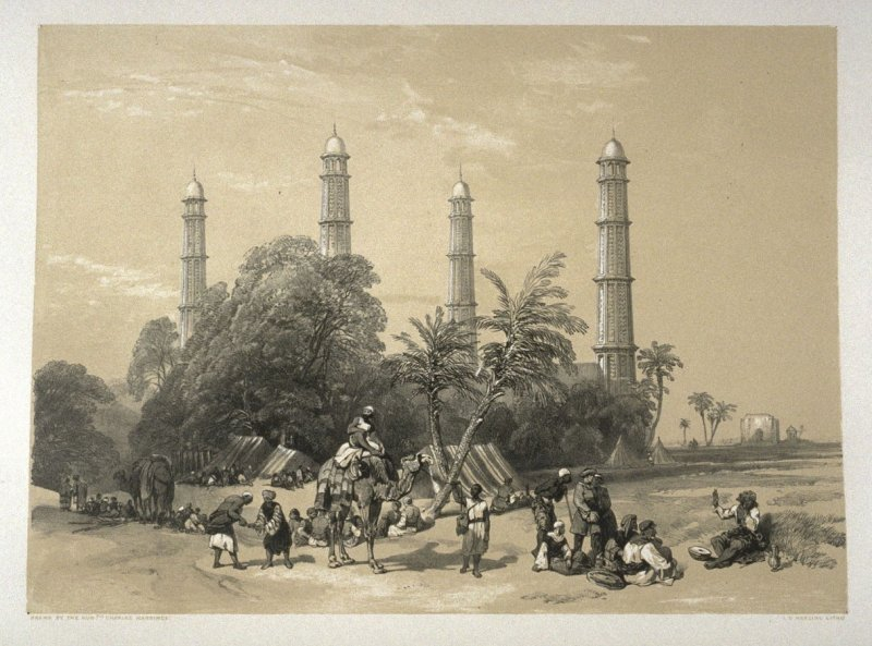 Shah Dera, the Tomb of the Emperor Jehangir, tenth plate in the book, Recollections of India … Part I. British India and the Punjab (London: Thomas M'Lean, 1847)