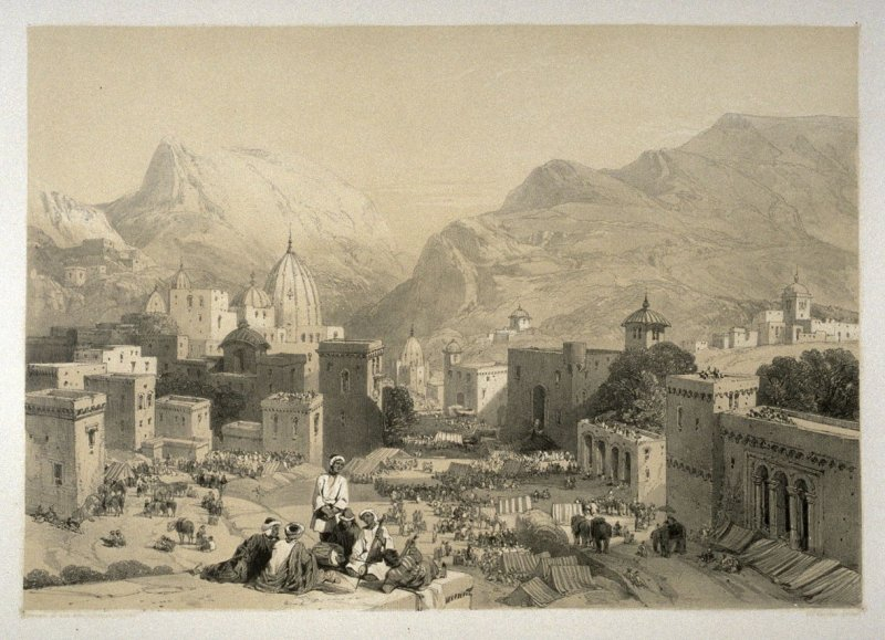 Poormandal, seventeenth plate in the book, Recollections of India … Part I. British India and the Punjab (London: Thomas M'Lean, 1847)