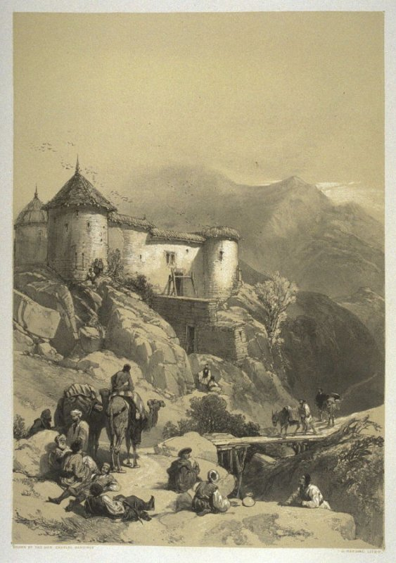 Hill Fort of Gulab Sing, nineteenth plate in the book, Recollections of India … Part I. British India and the Punjab (London: Thomas M'Lean, 1847)