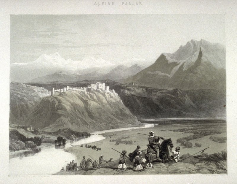 Jamu, twentieth plate in the book, Recollections of India … Part I. British India and the Punjab (London: Thomas M'Lean, 1847)