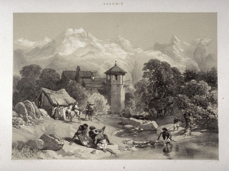 Shupeyan (Chupayan) Fort, twenty-second plate in the book, Recollections of India … Part I. British India and the Punjab (London: Thomas M'Lean, 1847)