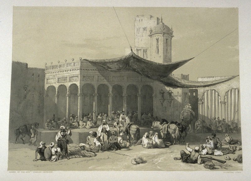 Sikh soldiers Receiving their Pay at the Royal Durbar, twelfth plate in the book, Recollections of India … Part I. British India and the Punjab (London: Thomas M'Lean, 1847)