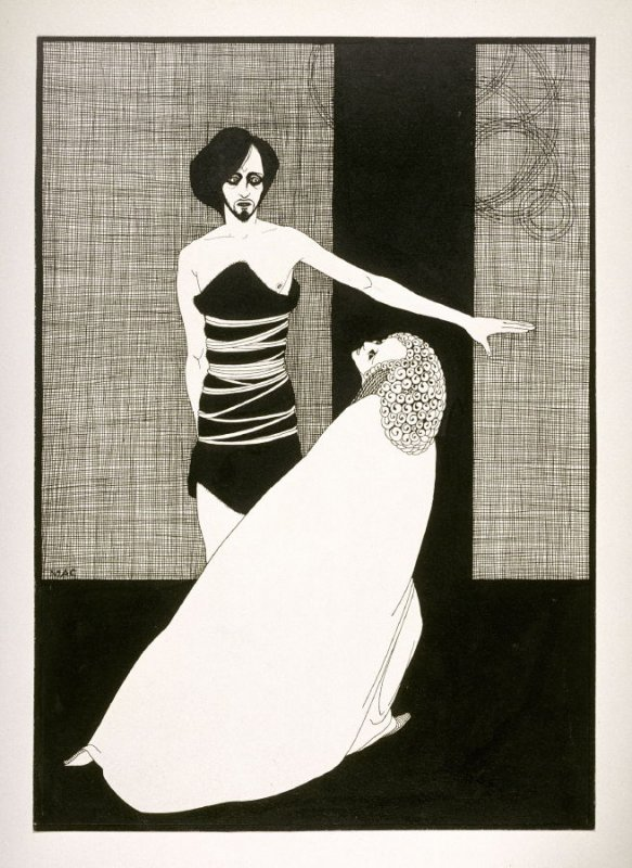 Iokanaan et Salomé (Jochanan and Salome), from a series of drawings based on scenes from the play, Salome by Oscar Wilde