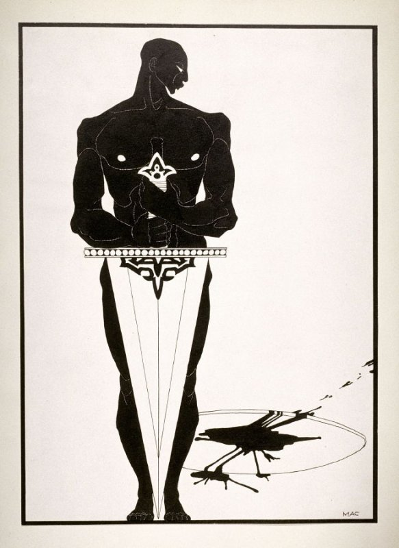 Le bourreau (The Executioner), from a series of drawings based on scenes from the play, Salome by Oscar Wilde