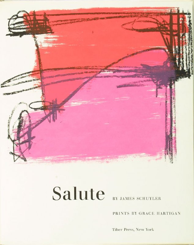 Frontispiece, in the book Salute by James Schuyler in the Portfolio of 4 Books of Poetry (New York: Tiber Press, 1960)