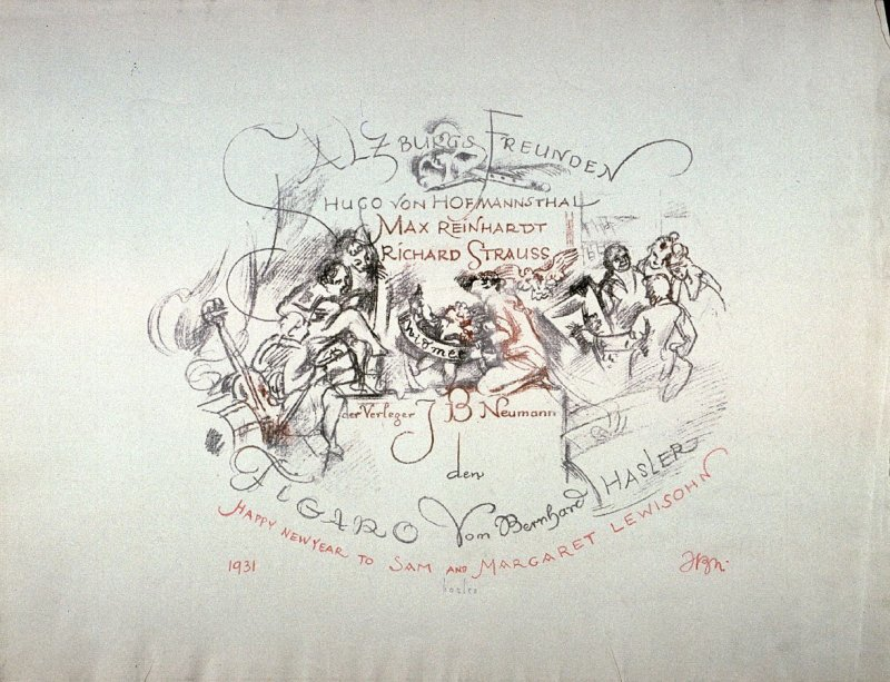 Title page: Album of ten lithographs to Mozart's Marriage of Figaro