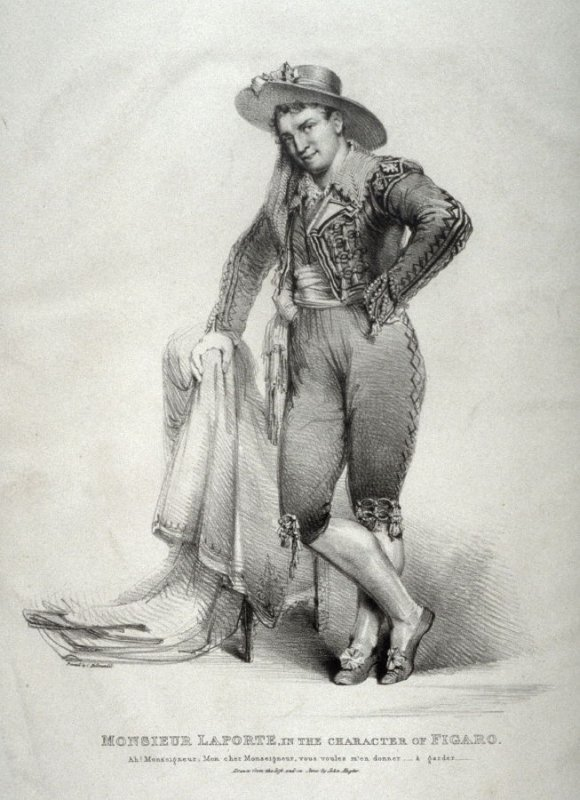 M. Laporte in the character of Figaro
