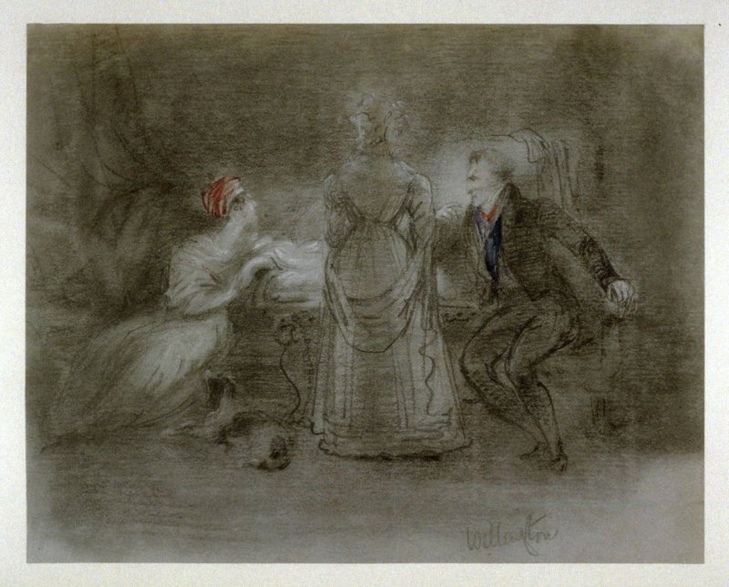 Duke of Wellington with Two Ladies in an Interior