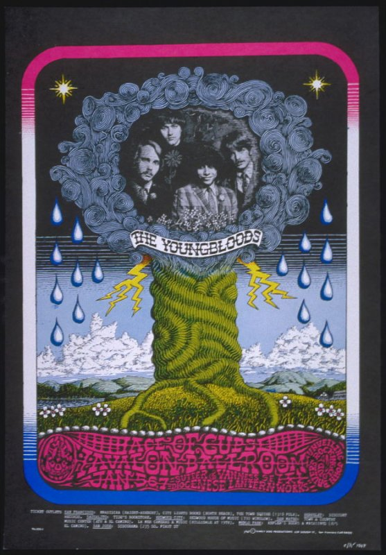 """""""Rocking Cloud,"""" Youngbloods, Ace of Cups, John Bauer's Rocking Cloud, January 5 -7,  Avalon Ballroom"""