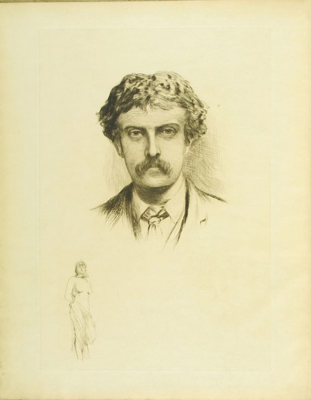 """Portrait of Cecil Lawson,"" frontispiece, in the book Cecil Lawson: A Memoir by Edmund W. Gosse (London: The Fine Art Society, 1883)"