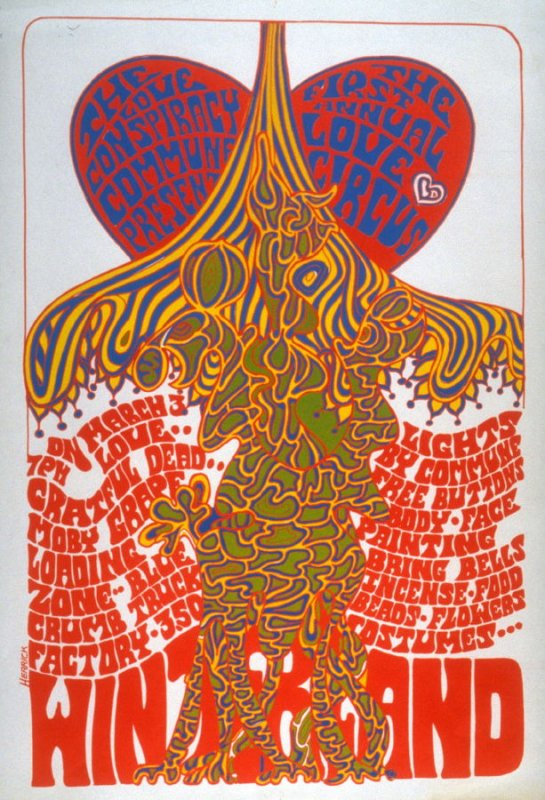 """""""The First Annual Love Circus,"""" Grateful Dead, Moby Grape, Loading Zone, Blue Crumb Truck, March 3, Winterland"""