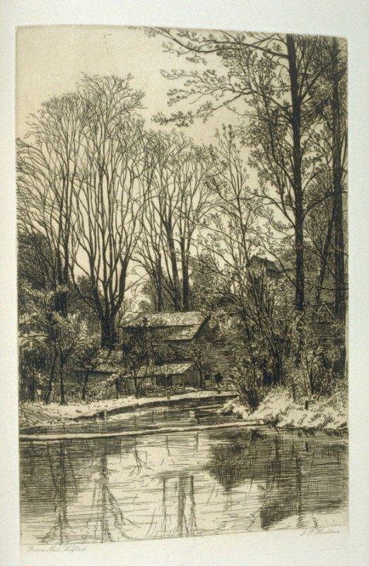 Grove Mill, Watford, plate 32 in the book, The Etcher (London: Sampson Low…, 1880), vol. 2 [bound in same volume as vol. 1, 1879]