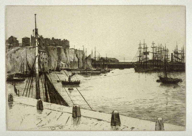 Ramsgate Harbour, plate 2 in the book, The Etcher (London: Williams and Norgate, 1879), vol. 1