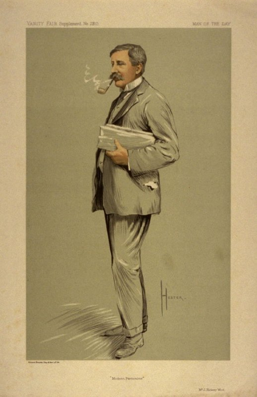 """""""Modern Pantomime"""" (Mr. J. Hickory Wood) Man of the Day No. 2310, from Vanity Fair Supplement"""