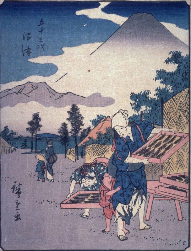 Namazu, no. 13 from a series of Fifty-three Stations of the Tokaido (Gojusantsugi)