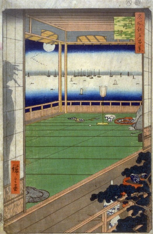 The Moon Promontory (Tsuki no Misaki), no. 82 from the series One Hundred Views of Famous Places in Edo (Meisho Edo hyakkei)