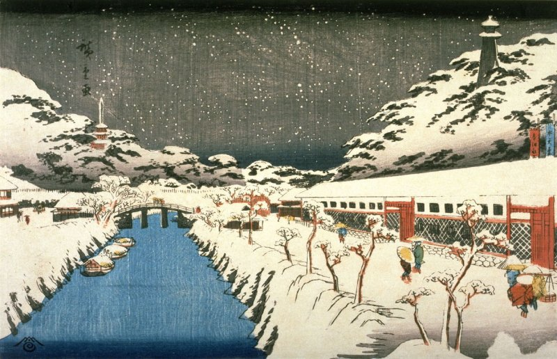 Akabane in Shiba (Shiba akabane), from a series Famous Places in the Eastern Capital (Toto meisho)