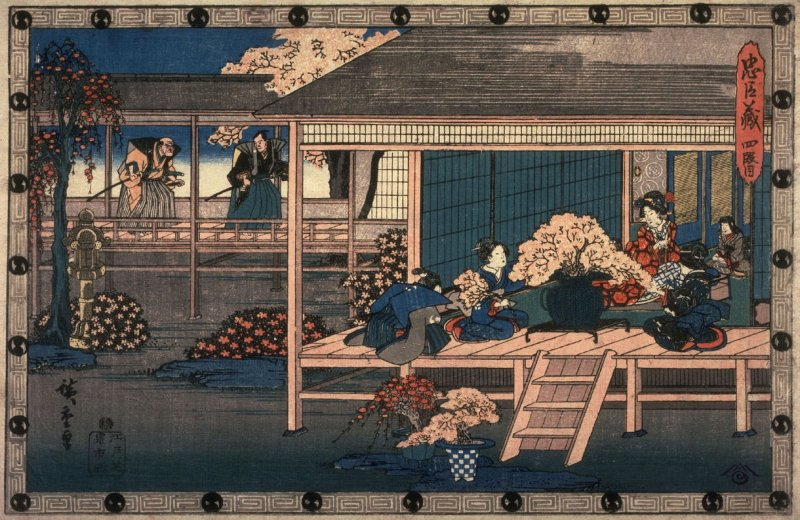 Act 4 (Yondamme) from the play Storehouse of Loyalty (Chushingura)