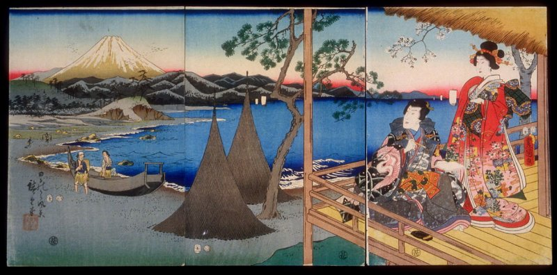 Prince Genji and a Companion at Tago Bay