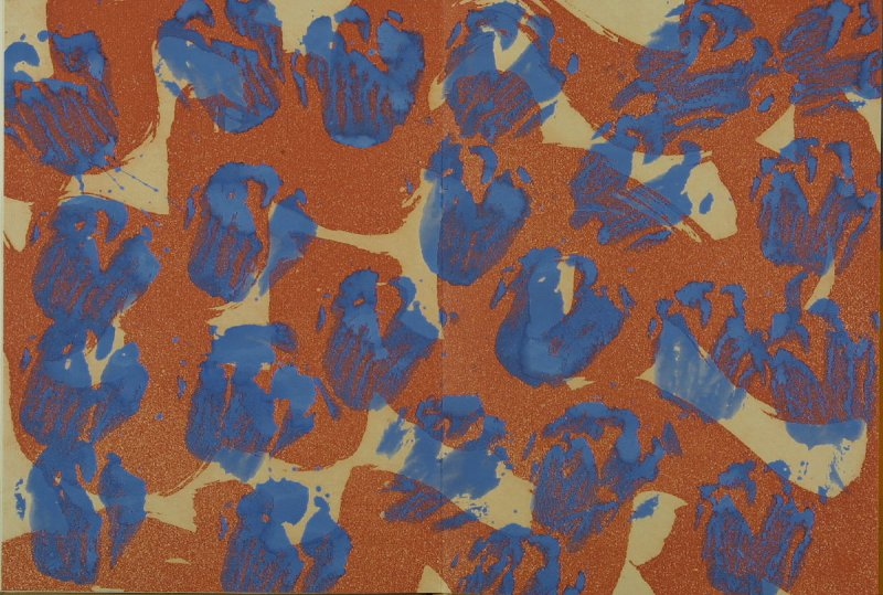 """Fear gives everything its hue, its high,"" back endpaper, in the book The Way We Live Now by Susan Sontag (London: Karsten Schubert, 1991)"
