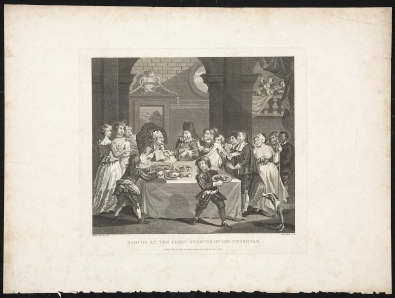 Sancho at the Feast, Starved by His Physician