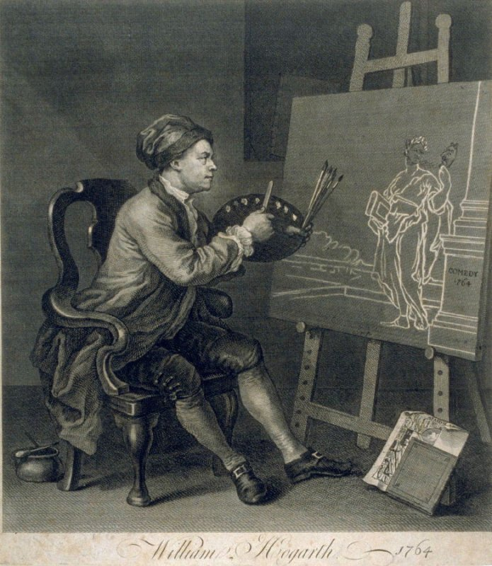 Hogarth Painting the Comic Muse