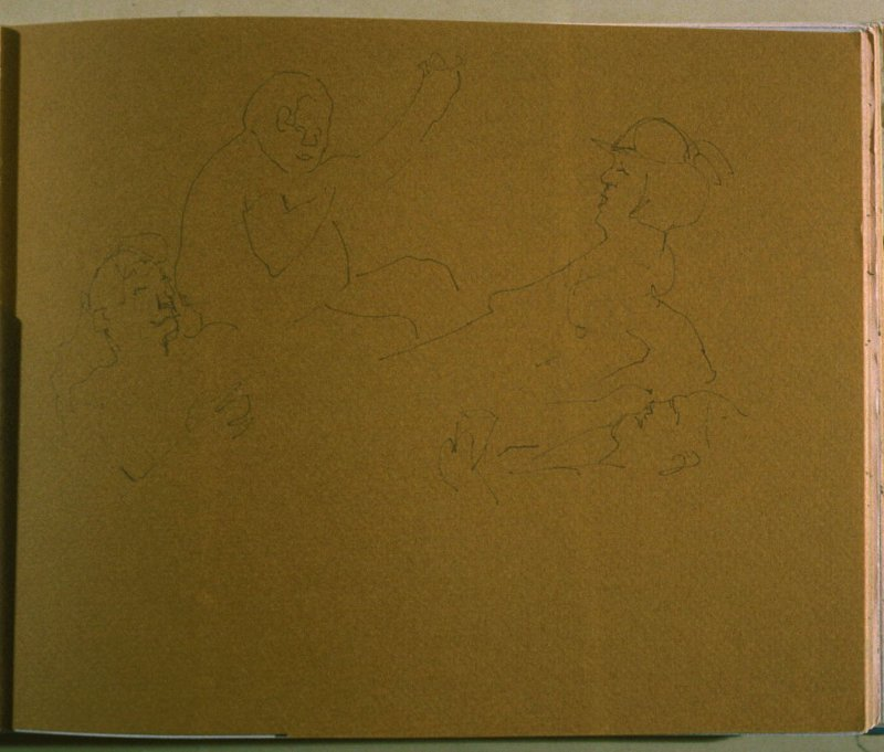 Four People, twenty-fourth image from Travel Sketchbook of Antarctica