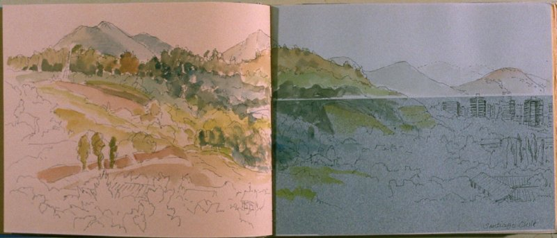 Santiago, Chile, fourth image from Travel Sketchbook of Antarctica