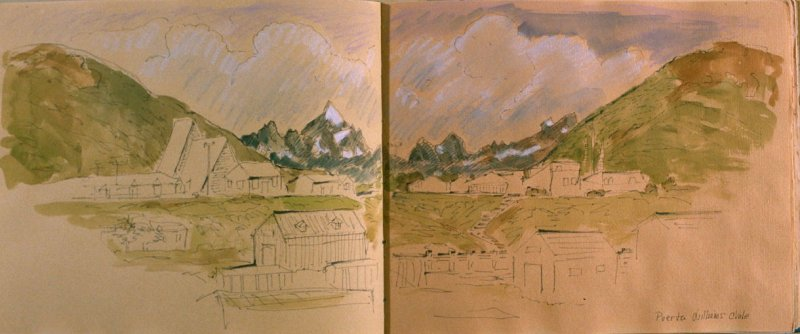Puerta Williams, Chile, sixth image from Travel Sketchbook of Antarctica