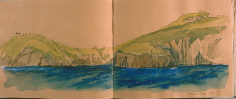 Towards Cape Horn, seventh image from Travel Sketchbook of Antarctica