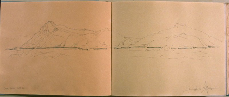 Cape Horn 1400 ft., eighth image from Travel Sketchbook of Antarctica