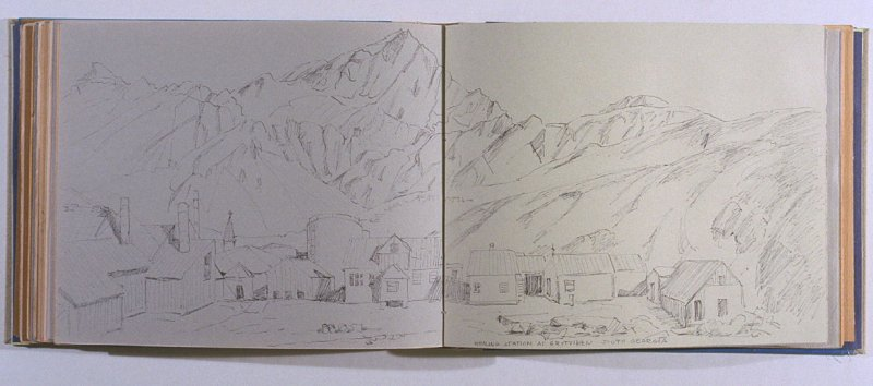 Whaling Station at Grytviken, South Georgia, sixty-first image from Travel Sketchbook of Antarctica