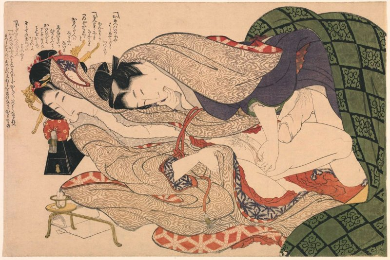 A Couple Making Love, from the shunga series Patterns of Loving Couples