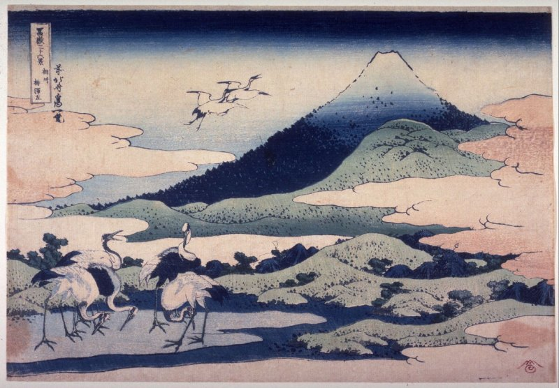 Fuji, with Umezawa Marsh on the Left, in Sagami Province, from the series Thirty-Six Views of Mount Fuji