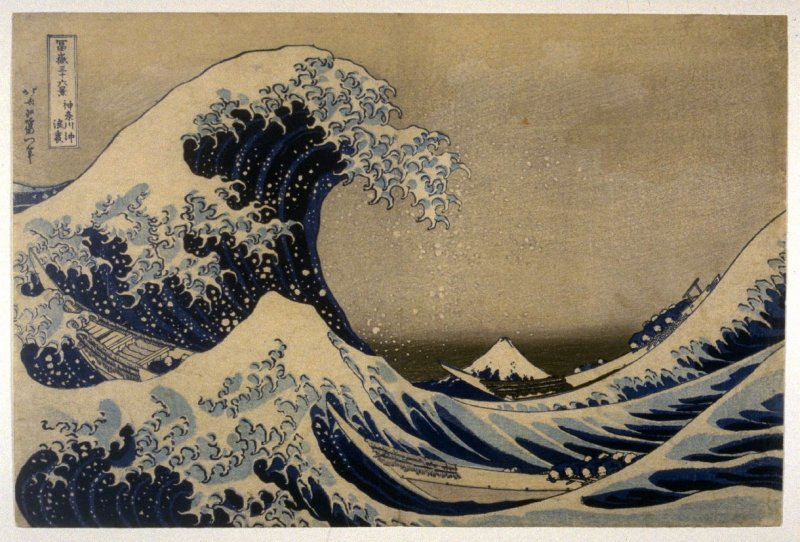 Cresting Wave off the Coast of Kanagawa (The Great Wave), from the series Thirty-Six Views of Mount Fuji