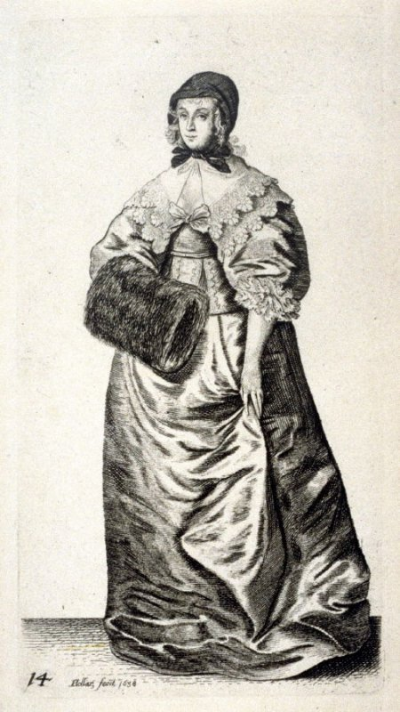 Lady with Cap and Muff