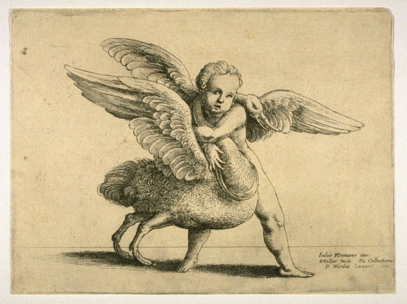 Cupid with a Swan
