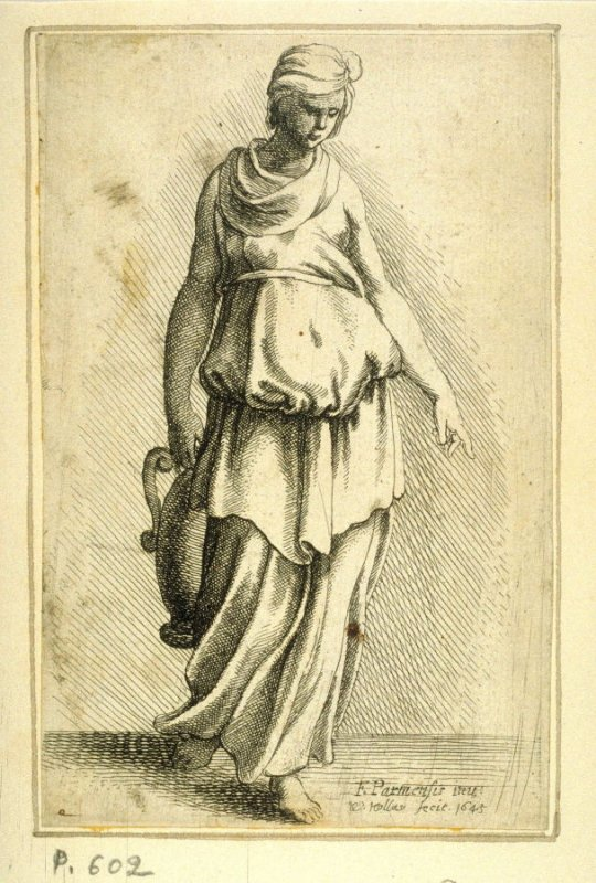 Standing Female Figure carrying a vessel