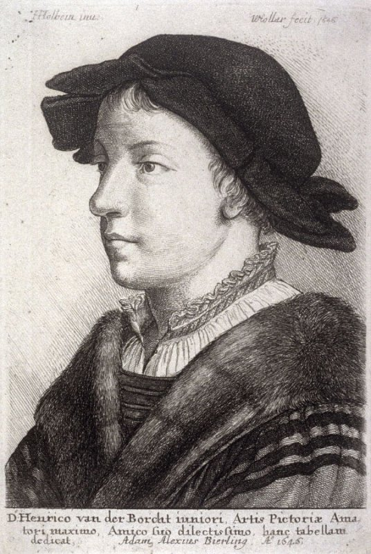 Young Man Wearing a Hat in Profile to the Left