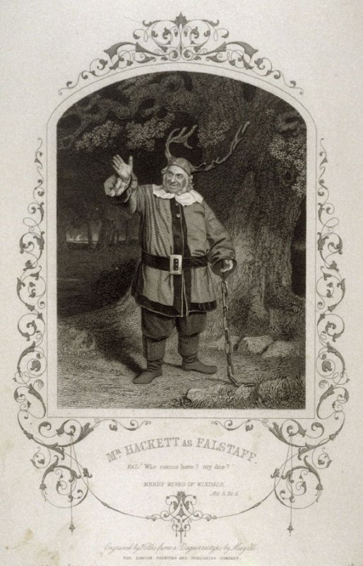 Mr. Hackett as Falstaff in The Merry Wives Of Windsor.