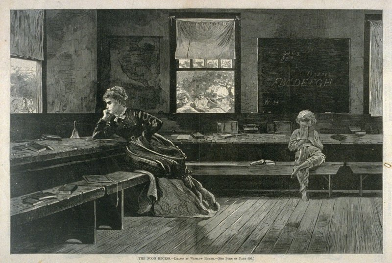 The Noon Recess, from Harper's Weekly