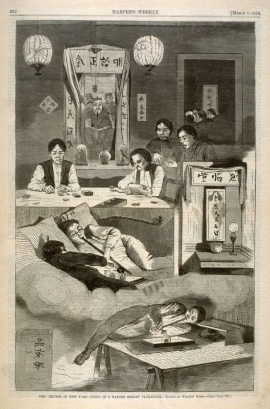 Chinese In New York, from Harper's Weekly