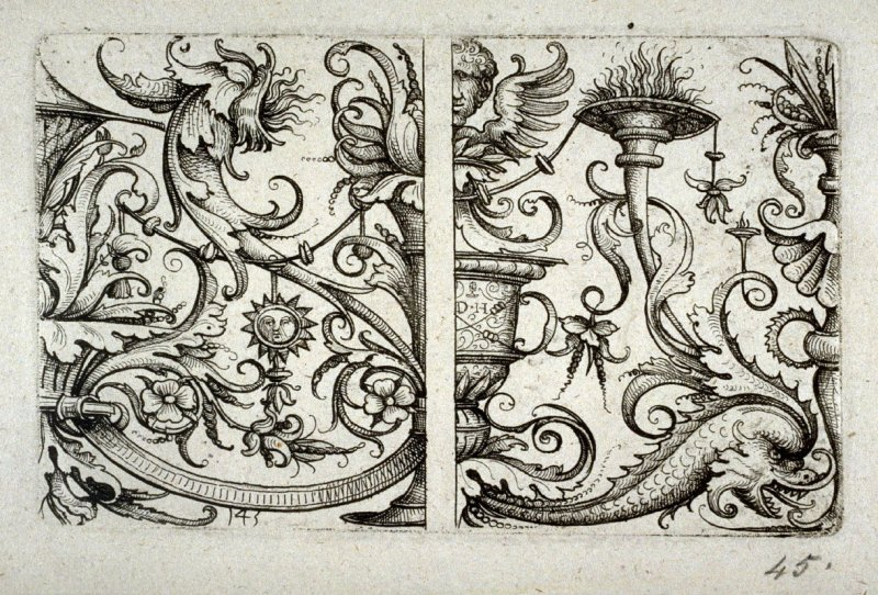 Two parts of panels of ornaments