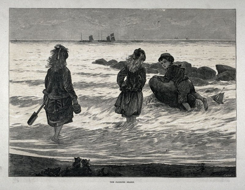 The Paddling Season - The Illustrated London News, 3 August 1872