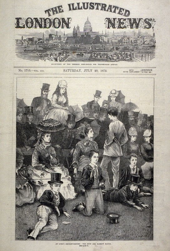 At Lord's Cricket-Ground: The Eton and Harrow Match - Title page from The Illustrated London News 20 July 1872