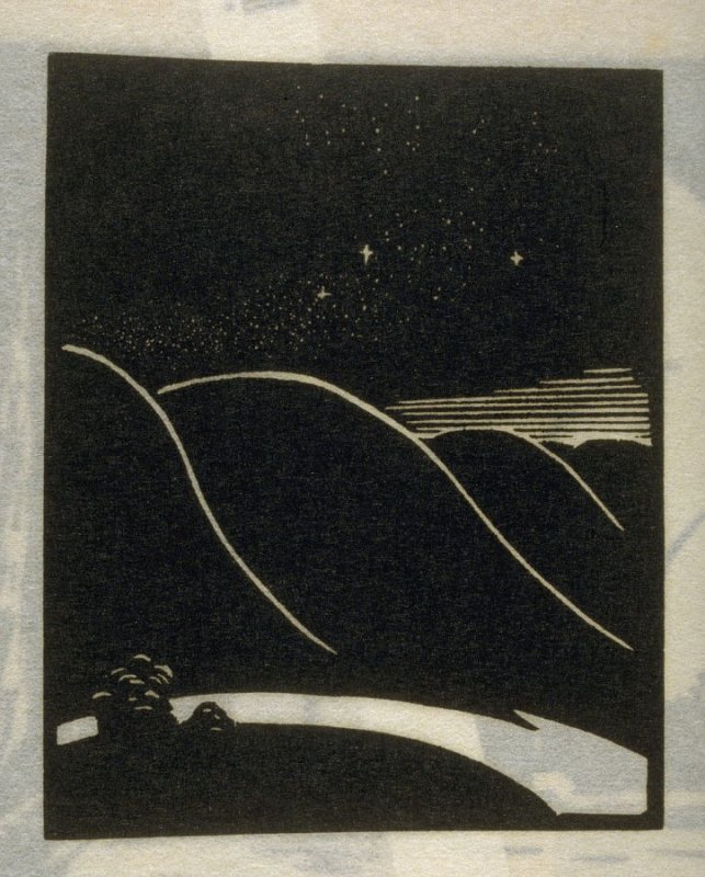 Rhythm, fourth plate in the book Block Prints (Los Angeles: privately printed, 1932)